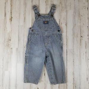 OshKosh B'gosh Baby Overalls Blue Striped Vestbak